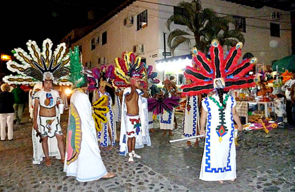 Dancers at the Guadalupe Processions in Early December